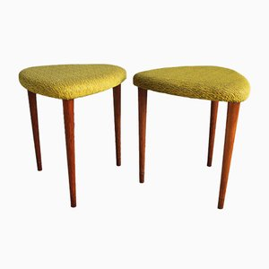 Mid-Century Danish Oak Stools, 1950s, Set of 2