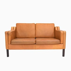 Mid-Century Danish Leather 2-Seater Sofa from Stouby, 1960s