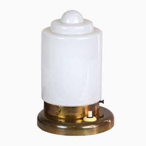 Lámpara de mesa de latón, años 20
