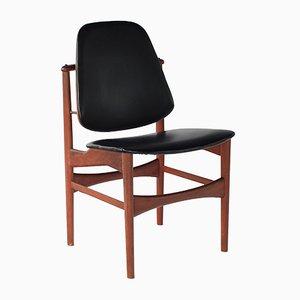 Silla de escritorio vintage de teca de Arne Hovmand-Olsen, años 60