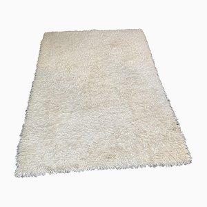 Vintage Swedish Silk and Linen Carpet