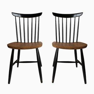 Spindle-Back Esszimmerstühle, 1950er, 2er Set