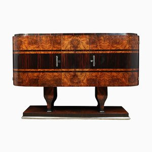 Art Deco Walnut and Macassar Sideboard, 1930s