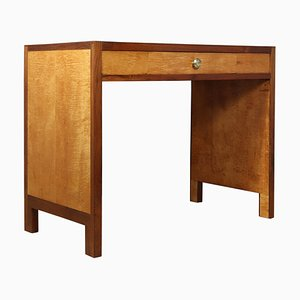 Art Deco Sycamore Desk, 1930s