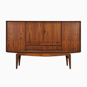 Vintage Danish Rosewood Veneer Highboard, 1960s