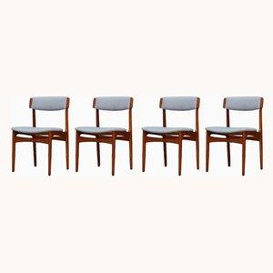 Esszimmerstühle mit Gestell aus Teak von N. & K. Bundgaard Rasmussen für T.S.M Manufactory, 1960er, 5er Set