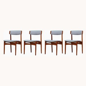 Teak Dining Chairs by N. & K. Bundgaard Rasmussen for T.S.M Manufactory, 1960s, Set of 5