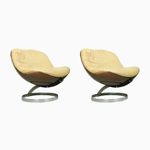Space Age Sphere Lounge Chairs by Boris Tabacoff for Mobilier Modulaire Moderne, 1971, Set of 2