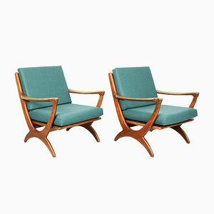 Mid-Century Dutch Armchairs from De Ster Gelderland, 1950s, Set of 2