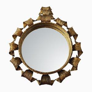 Hollywood Regency Golden Mirror, 1970s
