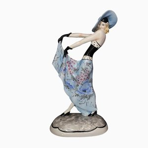 Painted Ceramic Figurine from Friedrich Goldscheider, 1950s