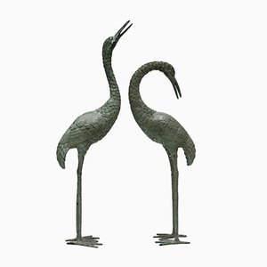 Brass Cranes, 1980s, Set of 2