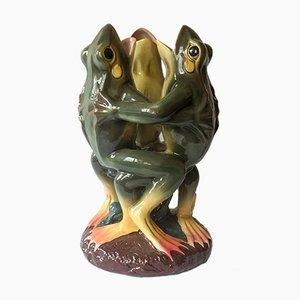 Majolica Singing Frogs, 1960s