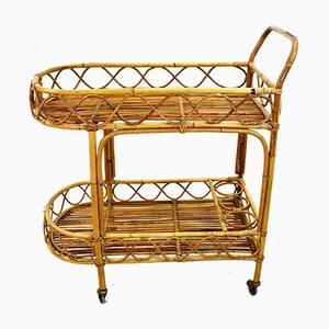 Italian Bamboo Trolley from Bonacina, 1950s