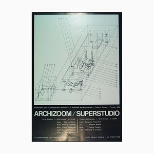 Affiche Superstudio / Archizoom Vintage de Poltronova, Italie, 1969