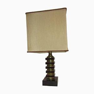 Mid-Century Plexiglas & Chromed Metal Table Lamp, 1970s