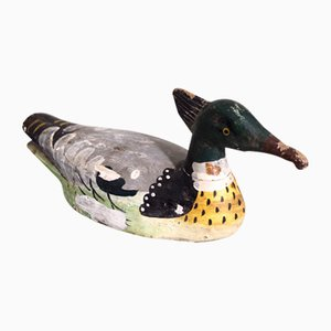 Antique French Painted Bird Decoy