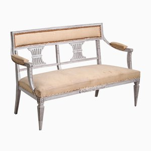 Antique Gustavian 2-Seater Bench