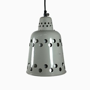Industrial Grey Painted Pendant Lamp, 1970s
