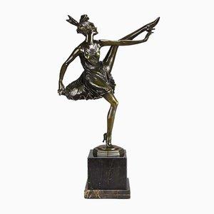 Art Déco Skulptur einer Tänzerin von Bruno Zach, 1930er