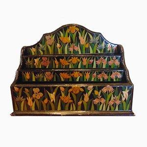 Portacartas de madera pintada, años 70