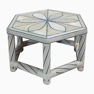 Mesa de centro hexagonal, años 80