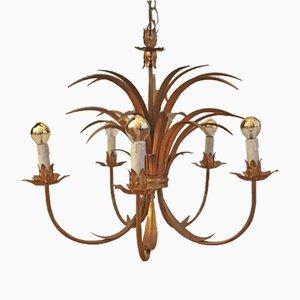 Lámpara de araña en forma de palmera, años 70