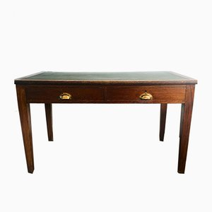 English Desk with Leather Top from R Palmer, 1920s