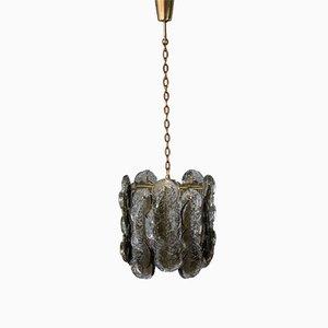 Lámpara colgante vintage de vidrio de Kalmar, años 60
