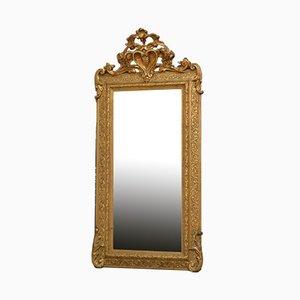 Antiker viktorianischer Spiegel mit vergoldetem Holzrahmen