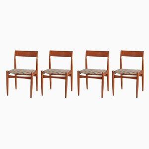 Chaises de Salon en Teck, Danemark, années 60, Set de 4