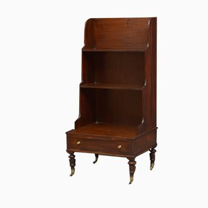 Small Antique William IV Rosewood Waterfall Bookcase
