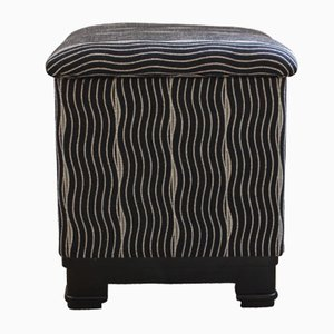 French Art Deco Stool, 1930s