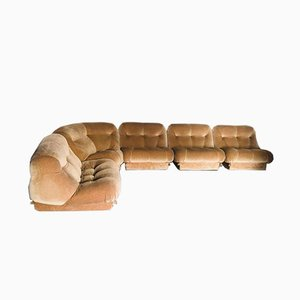 Brown Modular Sofa by Rino Maturi for Nuvolone