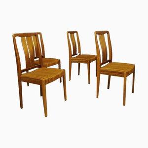 Sedie da pranzo in teak, anni '60, set di 4