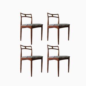 Chaises de Salon Vintage par Johannes Andersen pour Christian Linneberg, années 60, Set de 4