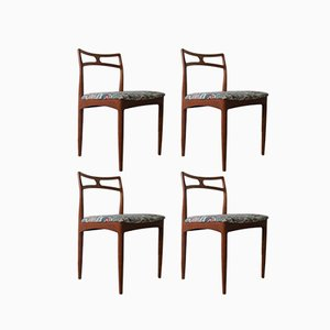 Vintage Dining Chairs by Johannes Andersen for Christian Linneberg, 1960s, Set of 4