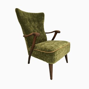 Mid-Century Wingback Lounge Chair