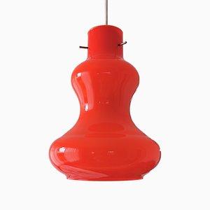 Orangefarbene Deckenlampe aus Muranoglas von Massimo Vignelli für Vistosi, 1960er