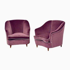 Vintage Sessel von Gio Ponti, 2er Set