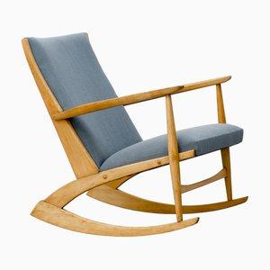Rocking-chair Mid-Century en Hêtre par Holger Georg Jensen pour Tønder Møbelværk