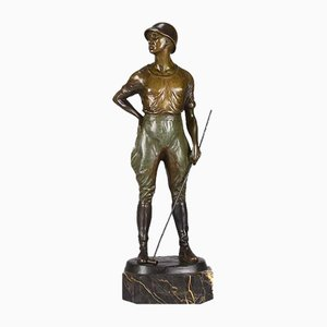 Art Deco Polo Player Sculpture by Franz Iffland, 1930s