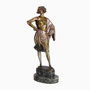 Art Deco Lady of the Night Skulptur von Bruno Zach, 1920er