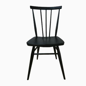 391 Black Satin Painted Dining Chair by Luciano Ercoloni for Ercol, 1960s
