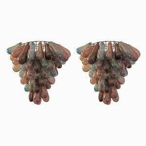 Murano Glass Sconces, 1980s, Set of 2