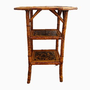 Antique Victorian English Bamboo Side Table