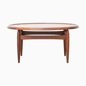 Vintage Coffee Table by Ejvind Johansson for Louis Pontoppidan, 1960s