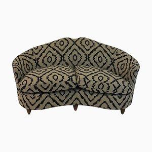 Sofá de dos plazas Mid-Century curvado de ISA, años 50