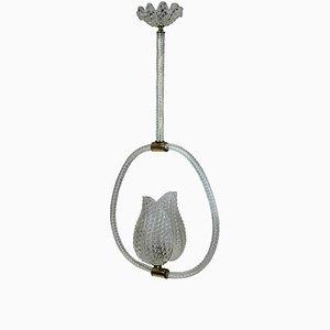 Lámpara de techo vintage de Barovier & Toso, años 40
