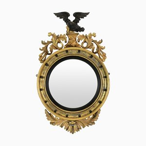 Antique Regency English Convex Mirror, 1840s